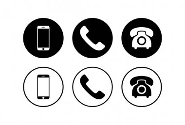Phone icons set. Phone icon vector. Mobile phone and telephone symbol pack. Mobile phone. Telephone icon. Cellphon icon
