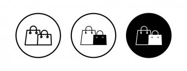 Shopping bag icons set. Shopping bag vector icon icon