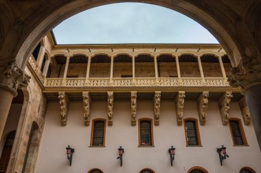 Beautiful balcony in Salina Palace courtyard