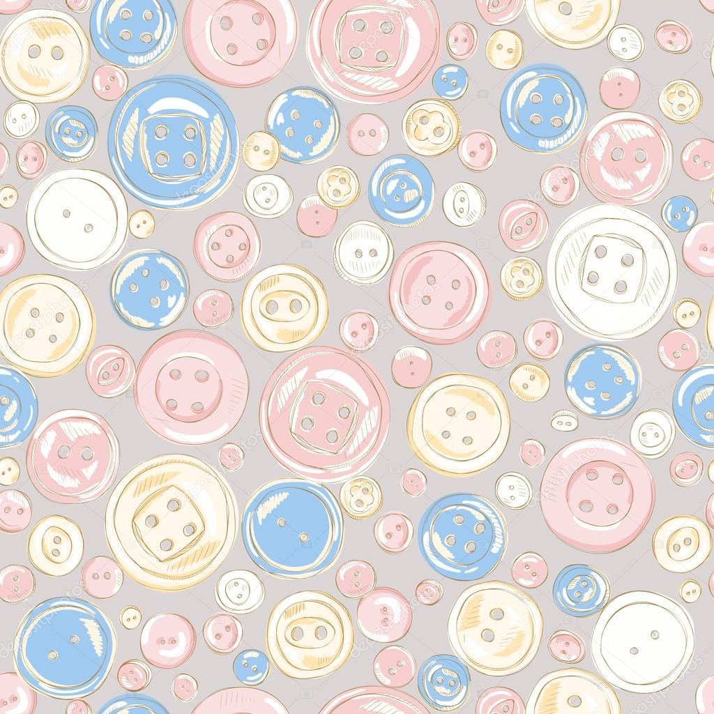 Vintage buttons seamless pattern