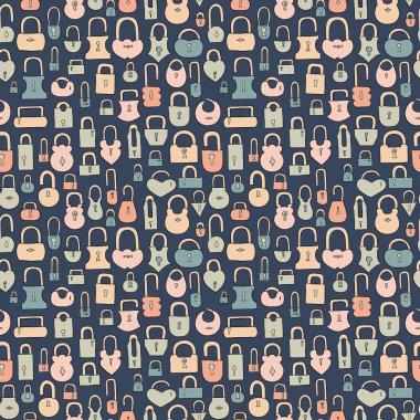 Locks seamless pattern