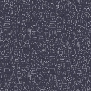 Locks seamless pattern