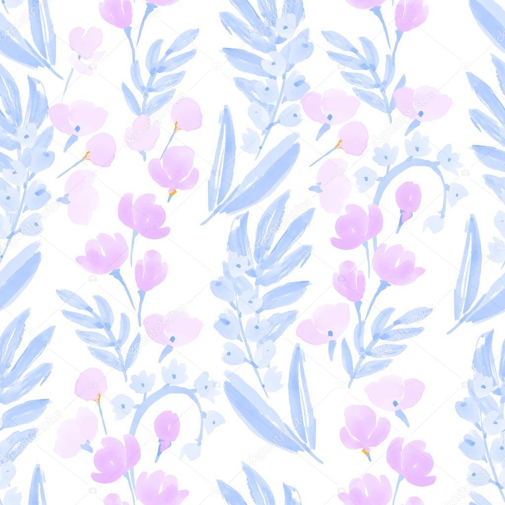 Fondos De Acuarela De Mano Dibujado Flores