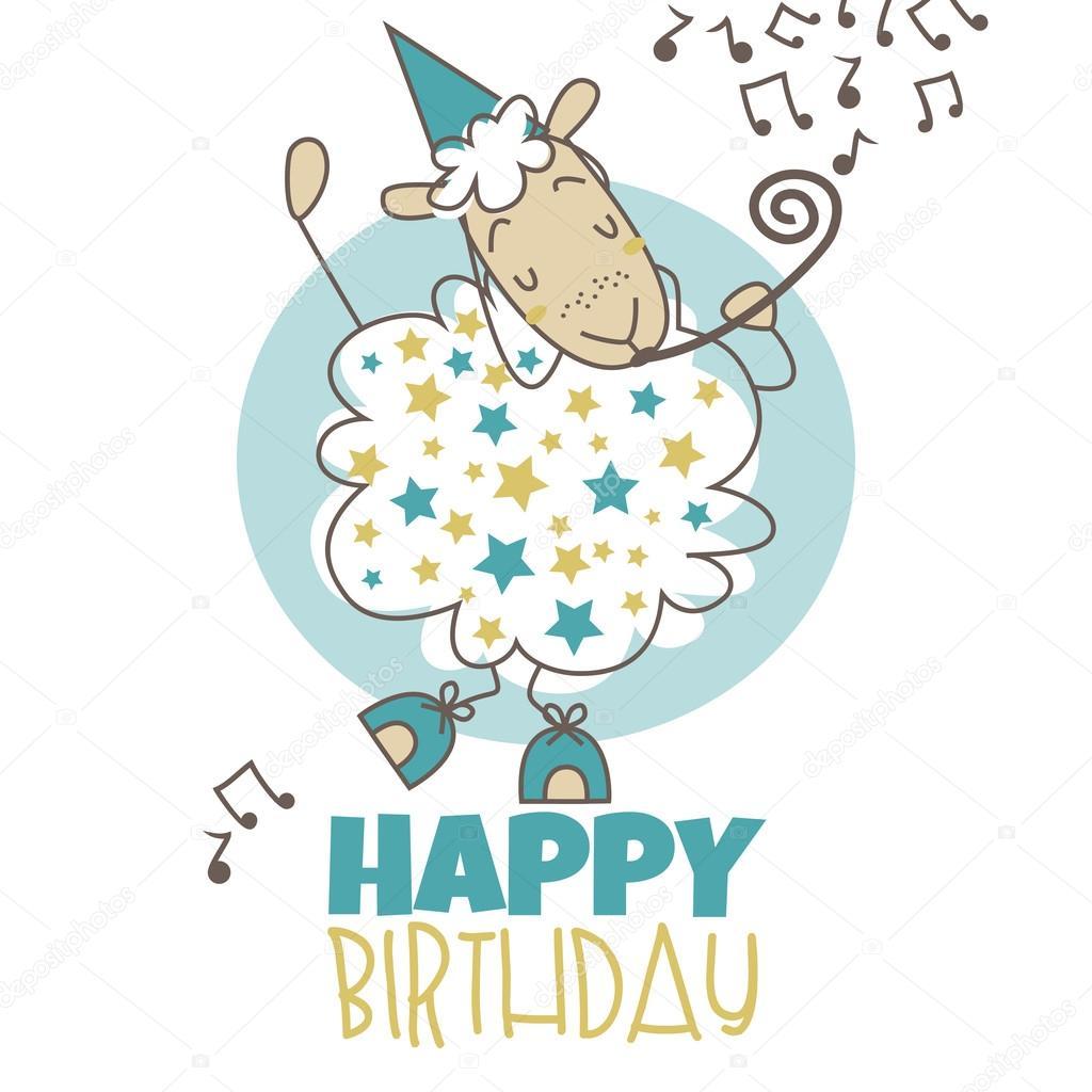 Gelukkige Verjaardag Schapen Stockvector C Tami88887 69382715