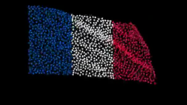 Flag of France consisting of many balls