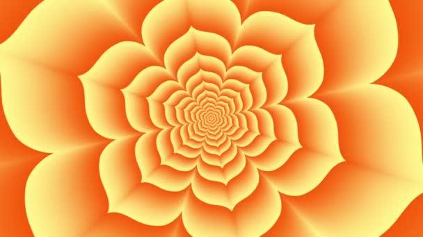 endloser Tunnel aus orangefarbenem Lotus