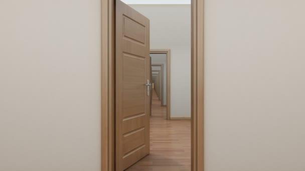 Pass enfilade with doors