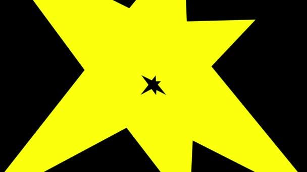 Astratto di sbottare nero giallo
