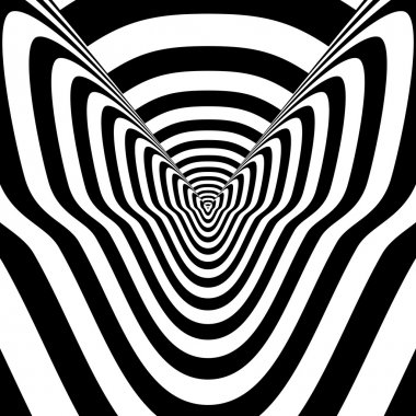 Concentric abstract symbol, sphinx cat