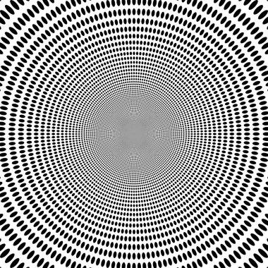 Concentric abstract symbol, circles - optical, visual illusion