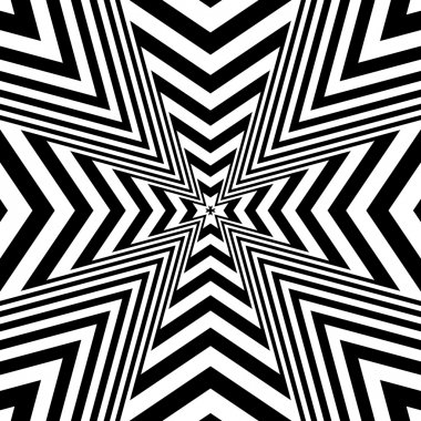Concentric abstract symbol, Maltese Cross Heraldry - optical, visual illusion