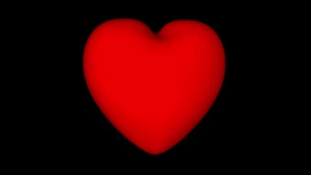 Giorno Di San Valentino Sfondo Cuore Rotante Rosso Su Uno Sfondo