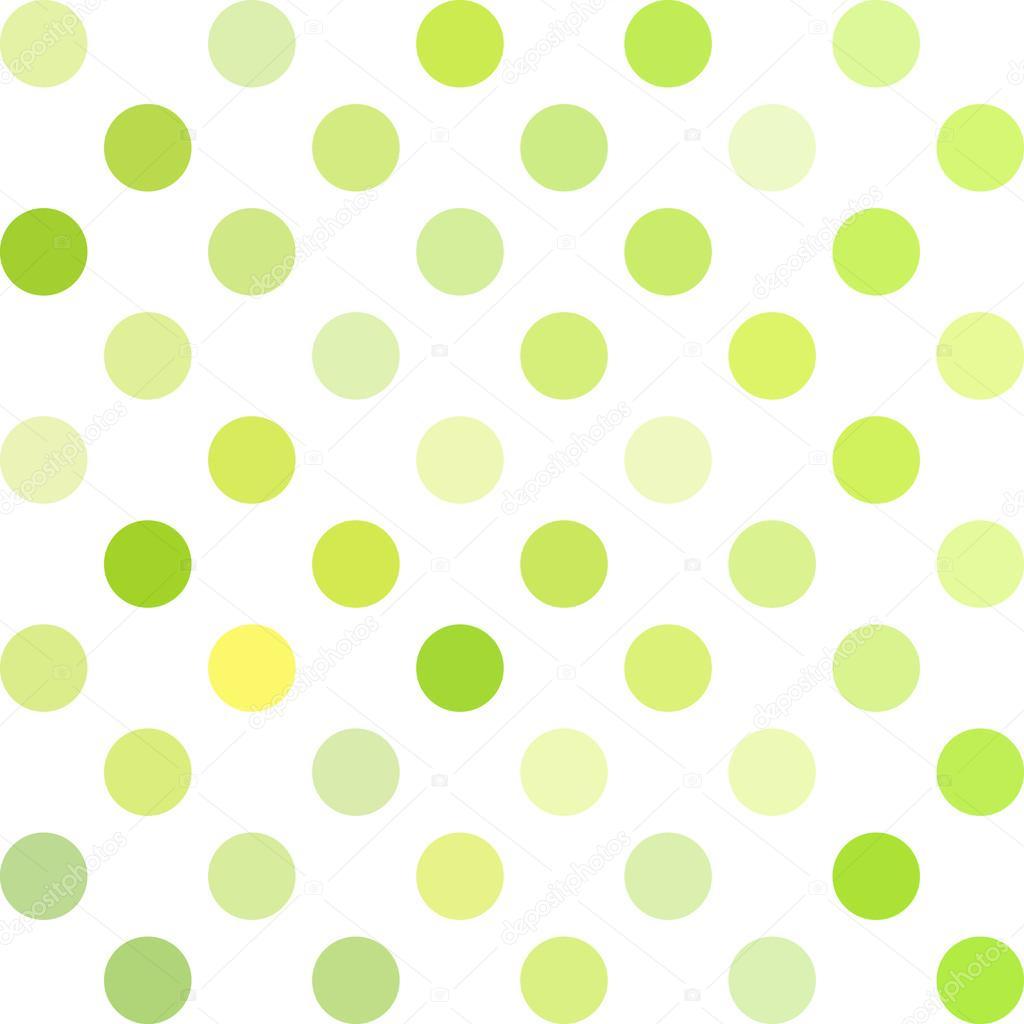 Hintergrund grün Polka Dots, kreative Design-Vorlagen — Stockvektor ...