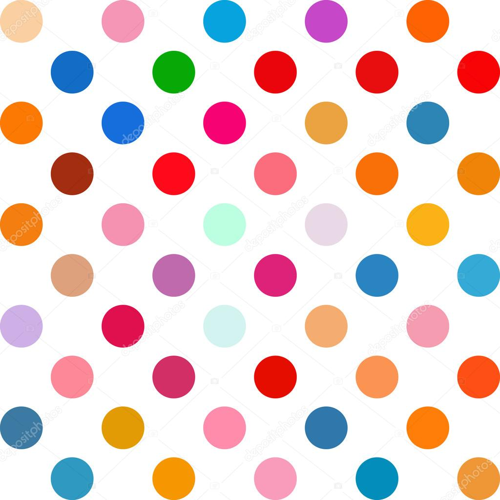 Stock Illustration Colorful Polka Dots Background Creative on Dot To Dots
