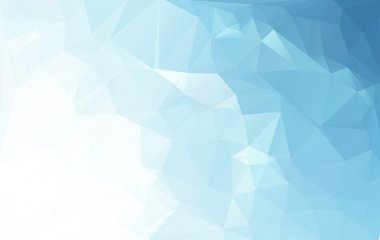 Blue White Light Polygonal Mosaic Background, Vector illustration,  Business Design Templates