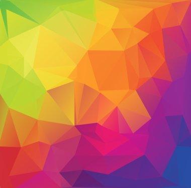Celebration Festival Beautiful Polygonal Mosaic Background, Vector illustration,  Creative  Business Design Templates