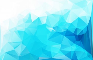Blue White Light Polygonal Mosaic Background, Vector illustration,  Creative  Business Design Templates