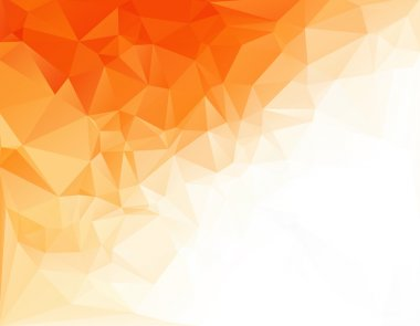 Orange White Light Polygonal Mosaic Background, Vector illustration,  Creative Art  Business Design Templates