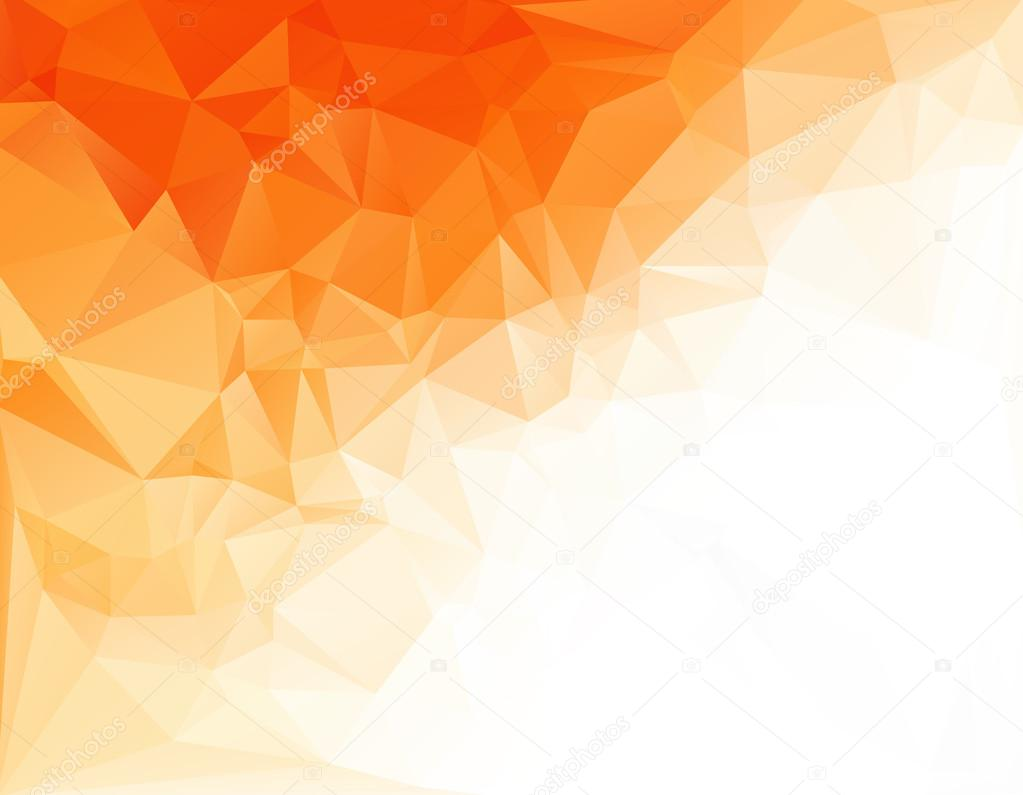 Orange White Light Polygonal Mosaic Background, Vector illustration,  Creative Art  Business Design Templates