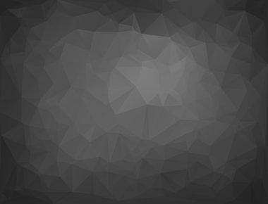 Gray Black Polygonal Mosaic Background, Vector illustration,  Creative  Business Design Templates