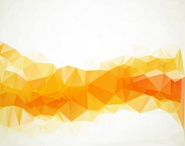 Orange White  Polygonal Mosaic Background, Vector illustration,  Creative  Business Design Templates