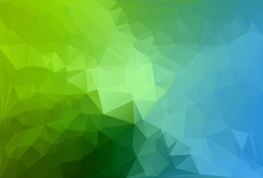 Blue Green Polygonal Mosaic Background, Vector illustration,  Creative  Business Design Templates