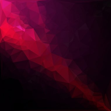 Red Light Polygonal Mosaic Background, Vector illustration,  Creative  Business Design Templates