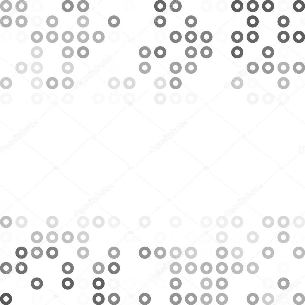 Grau weiß Donuts Hintergrund, kreative Design-Vorlagen — Stockvektor ...