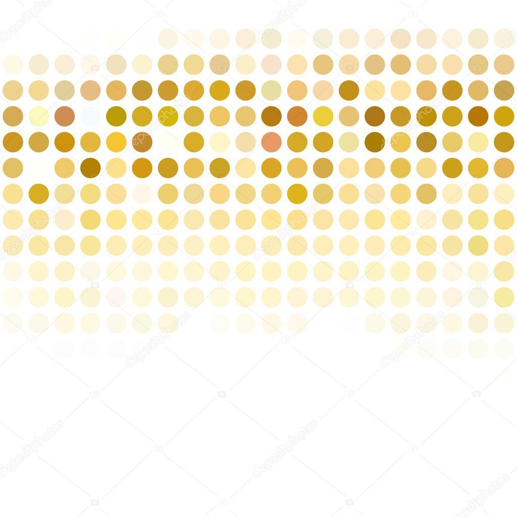 Gelbe Punkte Hintergrund, kreative Design-Vorlagen — Stockvektor ...