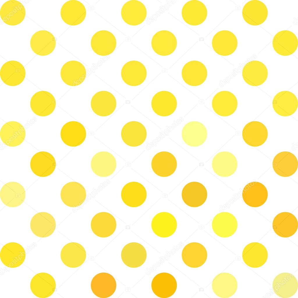 yellow polka dots background creative design templates stock vector