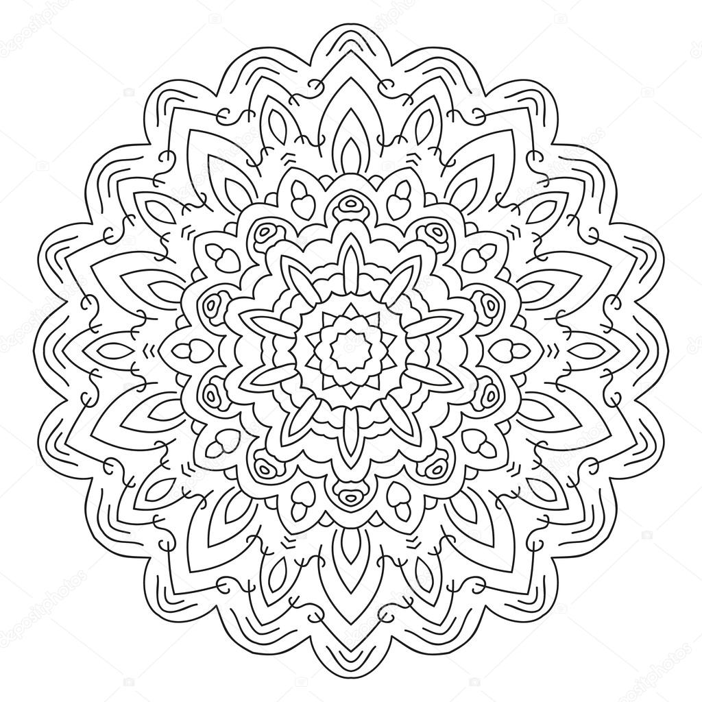 symmetrische circulaire patroon mandala  u2014 stockvector