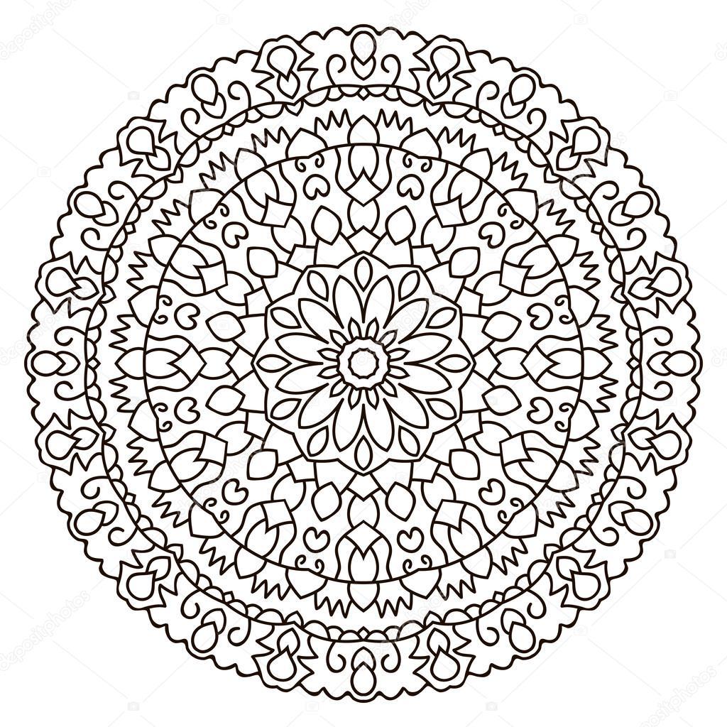 Symmetrische kreisförmigen Muster-mandala — Stockvektor © Ladika888 ...