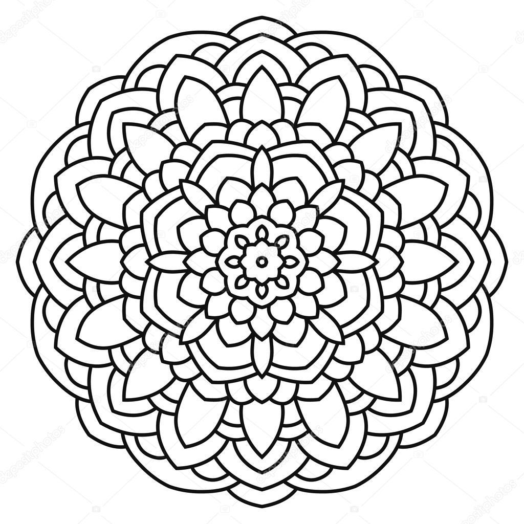 Mandala Boyama Ve Boyama Için Stok Vektör Ladika888 115136680