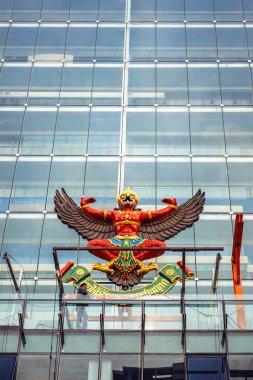 BANGKOK, THAILAND - 29 MAY: The national emblem of Thailand