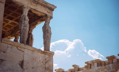 Greece, Athens, The ancient Porch of Caryatides