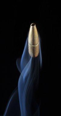 Rising bullet with smoke