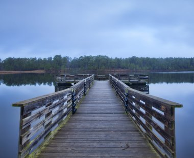 Morning dock on a small lake