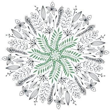Hand drawn floral illustration.