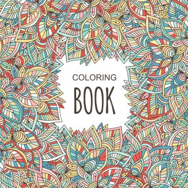 Autumn coloring book cover