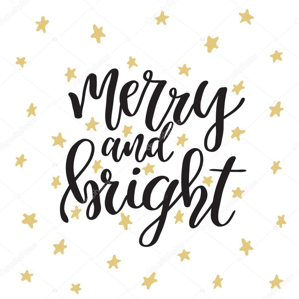 Merry En: メリー クリスマスと新年あけましておめでとうございます。書道とクリスマスのグリーティング カード。モダンな筆文字を