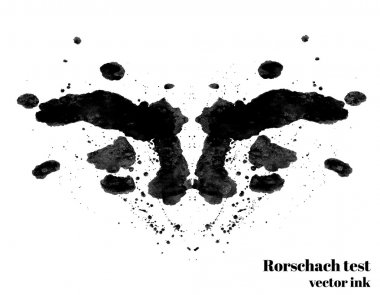 Rorschach test ink blot vector illustration.