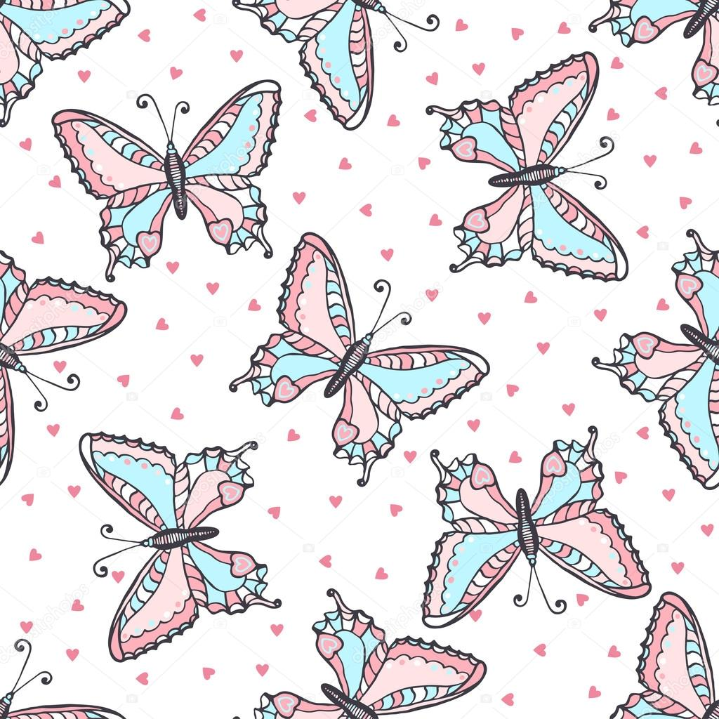 Top Wallpaper Butterfly Hand - depositphotos_74560795-stock-illustration-butterflies-seamless-pattern-in-doodle  Best Photo Reference_807359.jpg