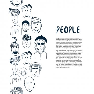 Hand drawn sketch people collection.