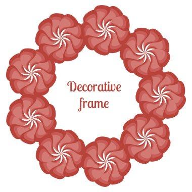 Ornamental flowers decors.