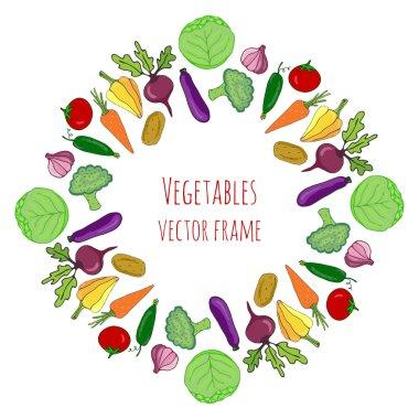 Vegetable hand drawn set.