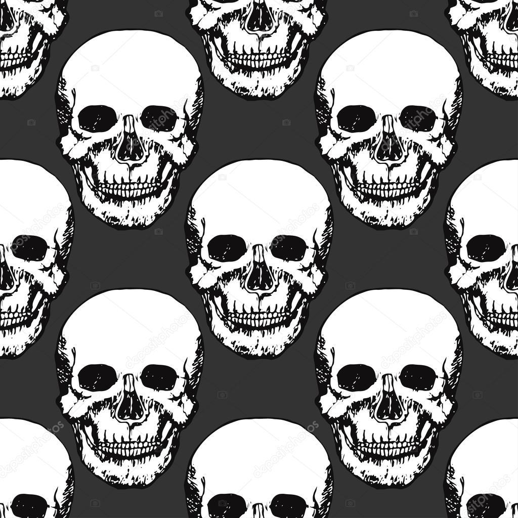 Imprimen calaveras negras. Patrón de cráneo — Archivo Imágenes ...