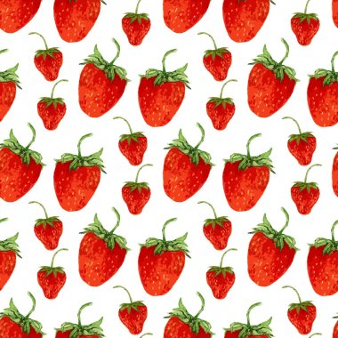 strawberries  on the white background
