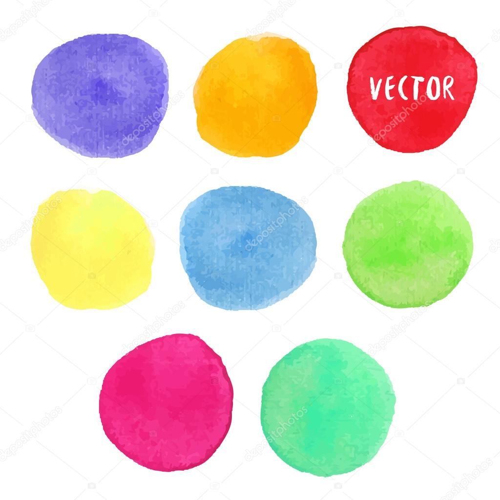 Renkli Sulu Boya Tasarim Ogeleri Stok Vektor C M Ion 86920152