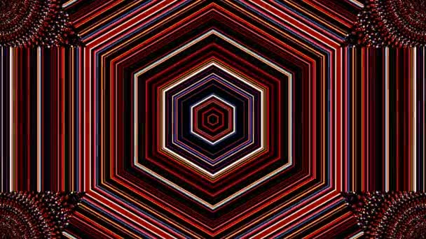 3D Beautiful abstract video that shines, bright light sets smooth and colorful motion with light on a pyramid shape, black background