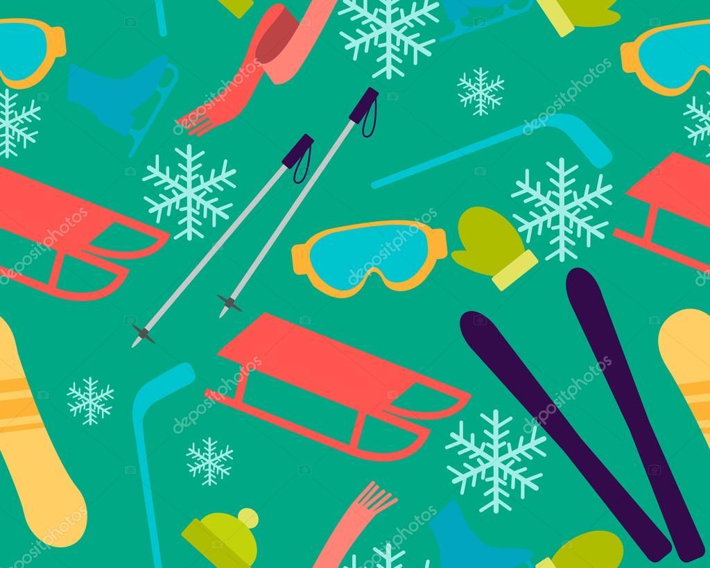 冬の休暇 バック グラウンド スポーツ アクセサリおよび装置